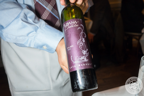 Susana Balbo wine at Chimichurri Grill West in Hell's Kitchen