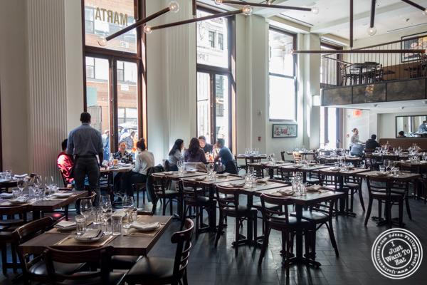 Dining room at Marta in NYC, NY
