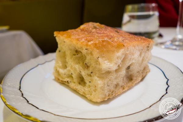 Focaccia bread at Marea in NYC, NY