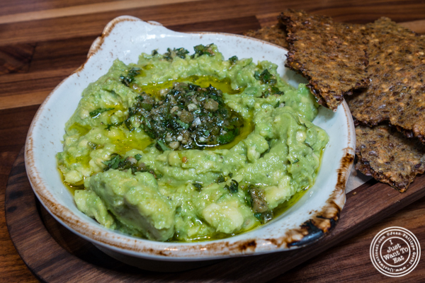 Crushed avocado at Bowery Road near Union Square