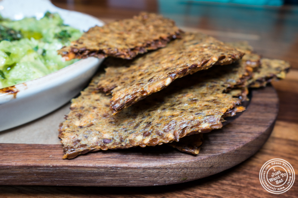 Corn seeded cracker at Bowery Road near Union Square