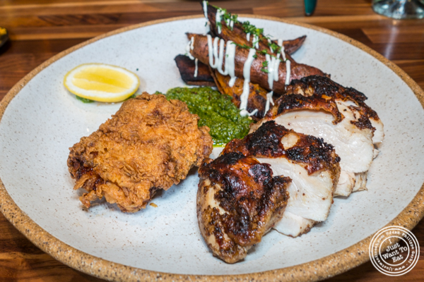Chicken two-ways at Bowery Road near Union Square