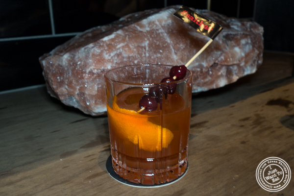 #salbae old fashioned cocktail at Nusr-Et Steakhouse in NYC