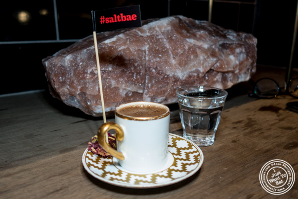 Turkish coffee at Nusr-Et Steakhouse in NYC