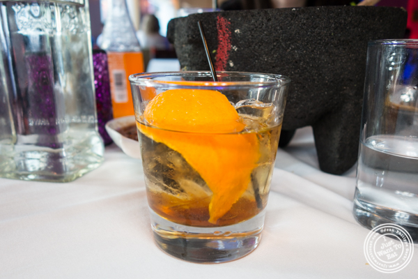 El Viejo cocktail at Rosa Mexicano near the Lincoln Center