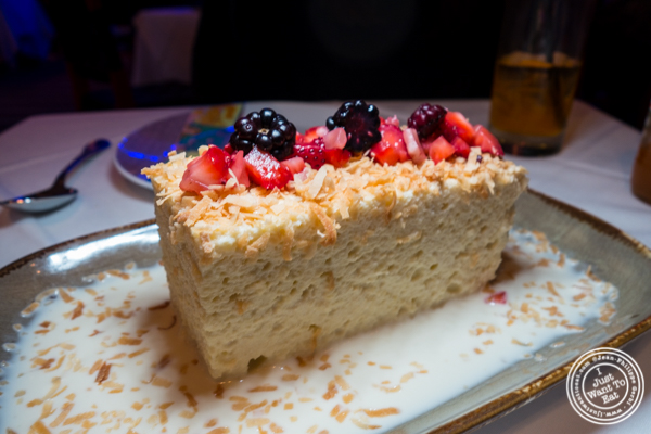 Tres leches at Rosa Mexicano near the Lincoln Center
