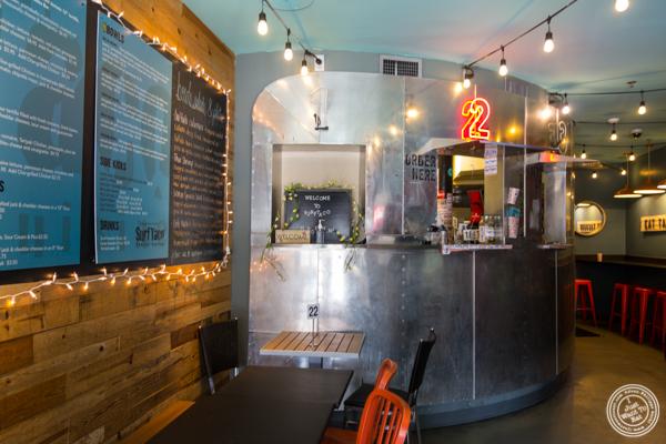 Dining room at Surf Taco in Hoboken, NJ