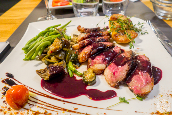 Duck breast at La Factory Gangi in Grenoble, France