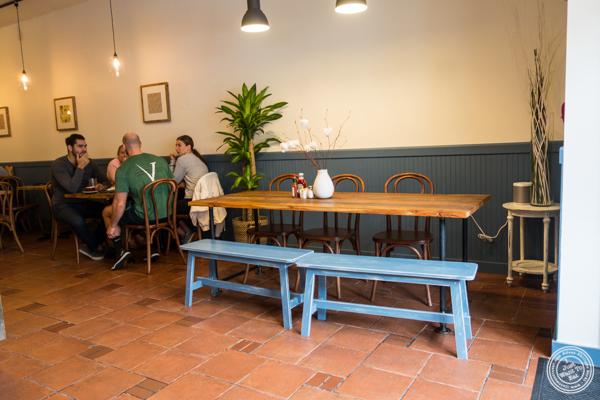 Dining room at Tosti in Hoboken, NJ