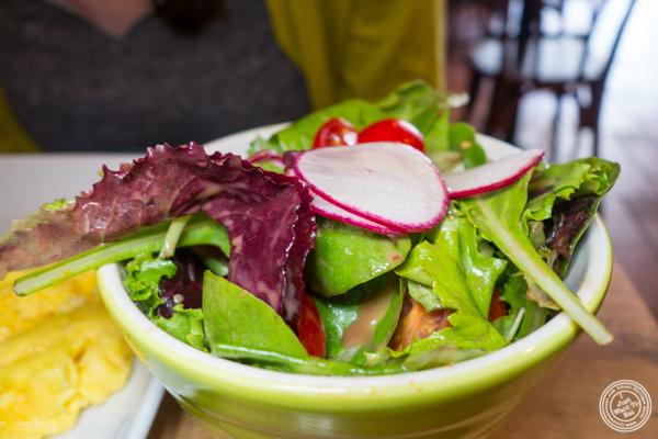 Green salad at Tosti in Hoboken, NJ