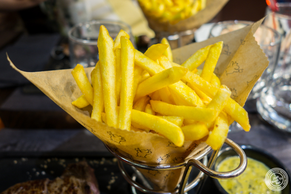 French fries at Hippopotamus in Grenoble, France