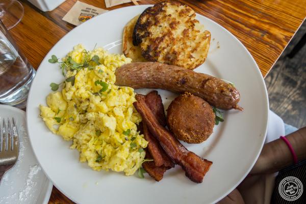 Breakfast platter at The Vanderbilt in Brooklyn