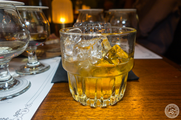 Whiskey (unknown) at The Flatiron Room in NYC. NY