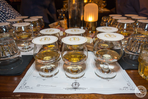 Whiskey tasting at The Flatiron Room in NYC. NY