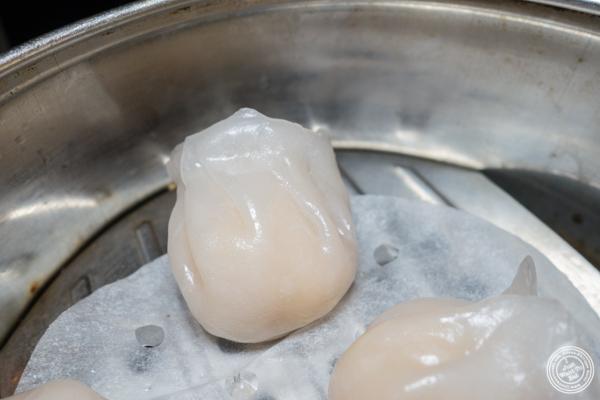 Crystal shrimp dumplings at Cafe China in NYC, NY