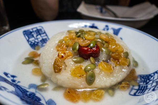 Eight jewel rice at Cafe China in NYC, NY