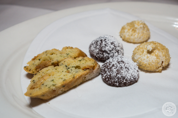 Italian cookies at Babbo Ristorante e Enoteca in NYC, NY