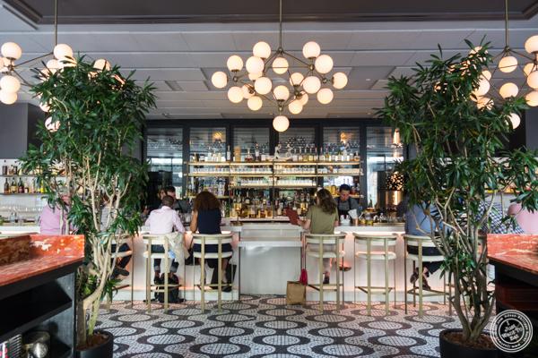 Bar at La Sirena in NYC, NY