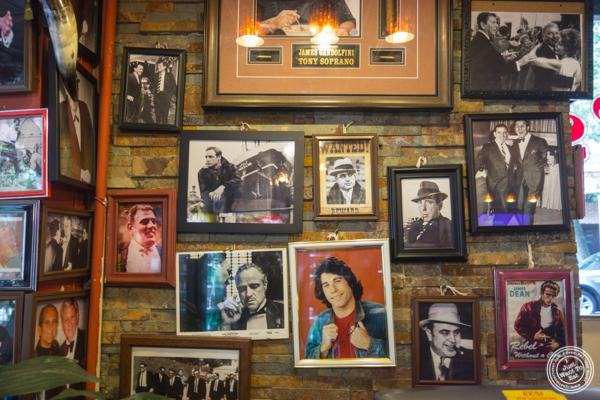 Decor at Luca Brasi's in Hoboken, NJ