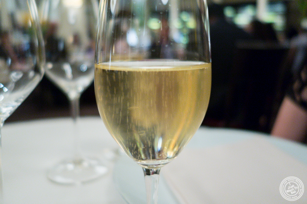 Glass of Champagne at Daniel in NYC, NY