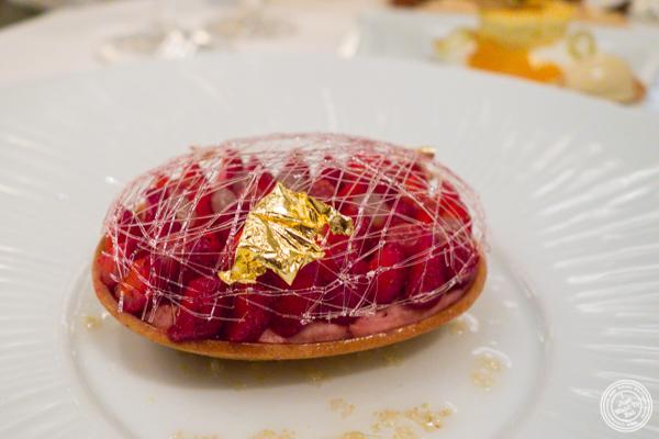Strawberry tart at Daniel in NYC, NY