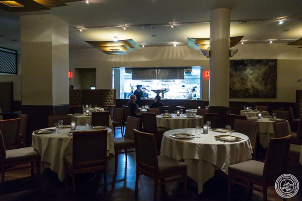 Dining room at Junoon in NYC, NY