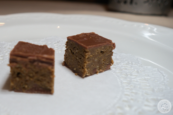 Pistachio chocolate biscuit at Junoon in NYC, NY
