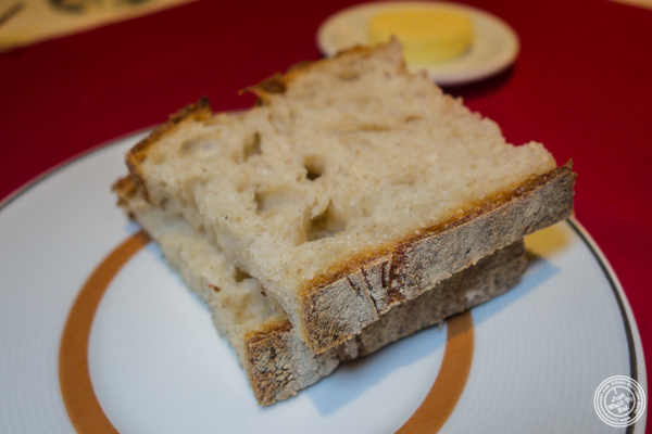 Sourdough bread at Café Boulud in NYC, NY