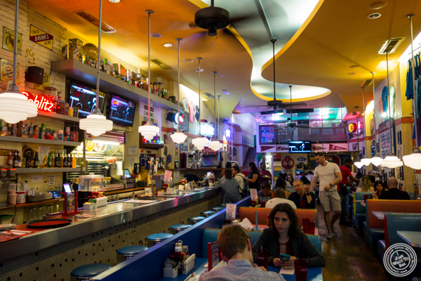 Dining room at Big Daddy's Diner in NYC, NY