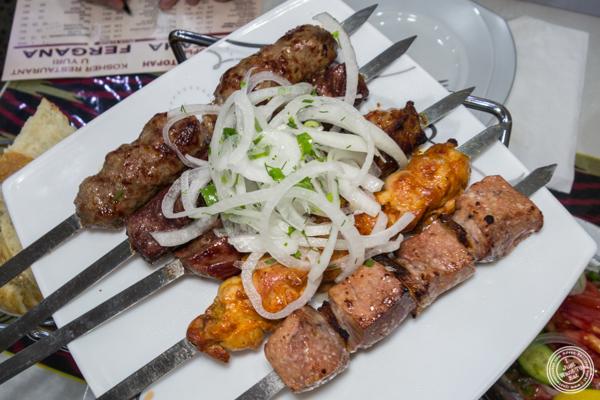 Shish kebaba at U Yuri Fergana in Rego Park, Queens