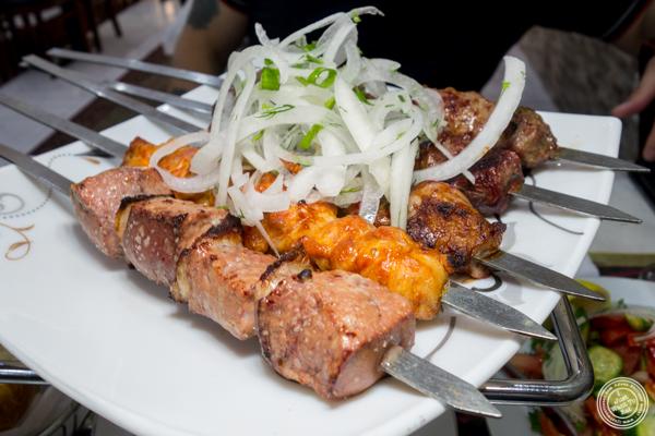 Shish kebab at U Yuri Fergana in Rego Park, Queens