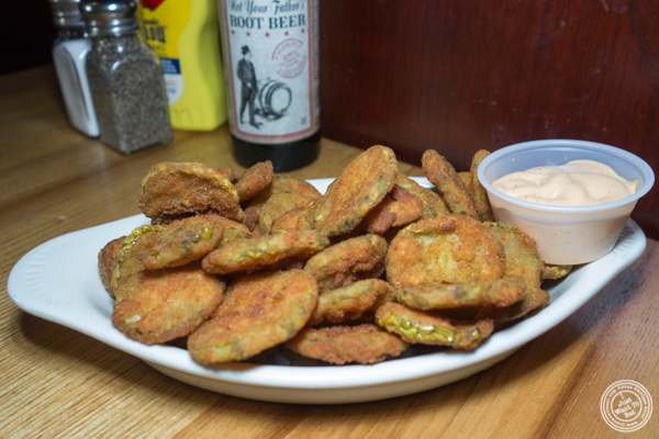 Fried pickles at Corner Bistro in Long Island City