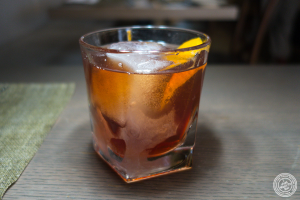 The Johnny Prime cocktail at Greenwich Steakhouse in NYC, NY