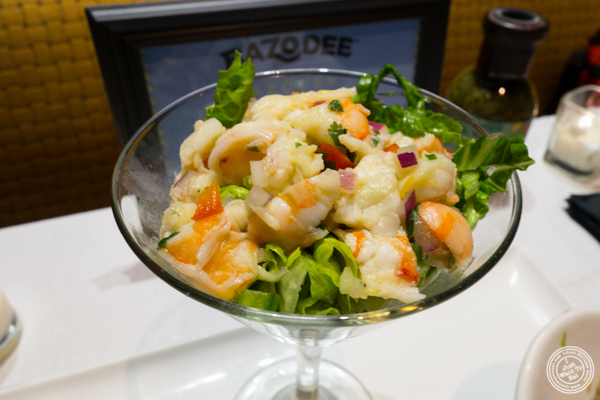 Shrimp ceviche made with Bazodee Hot Hot Soca sauce