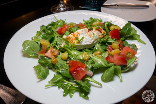 Arugula salad with goat cheese at Le Coq Rico in NYC, NY