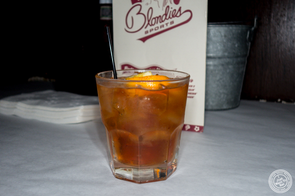 Old fashioned at Blondie Sports on the Upper West Side