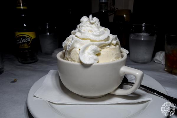 Vanilla ice cream at Blondie Sports on the Upper West Side