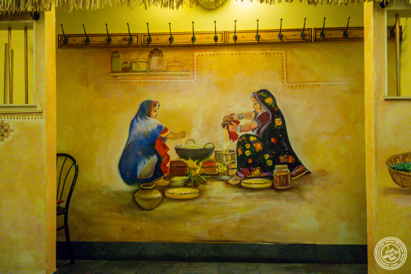 Painting on wall at Vatan in Murray Hill