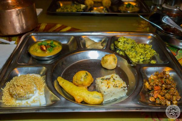Appetizer thali at Vatan in Murray Hill