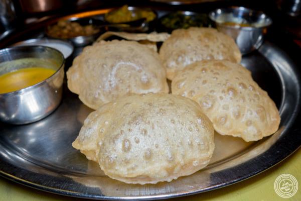 Puri bread at Vatan in Murray Hill