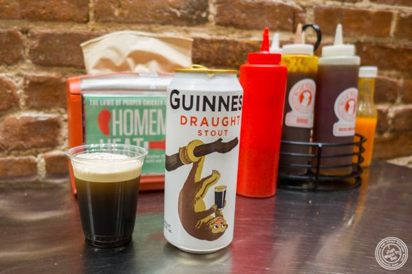 Guinness beer at Blue Ribbon Fried Chicken in Hell's Kitchen