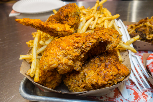 4 pieces mix at Blue Ribbon Fried Chicken in Hell's Kitchen