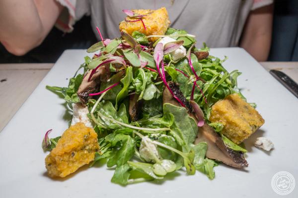 Mushroom salad at The Marshall in Hell's Kitchen