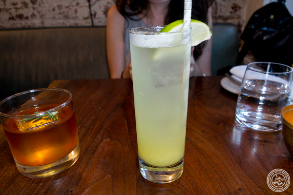Non alcoholic beverage at The Musket Room in NYC