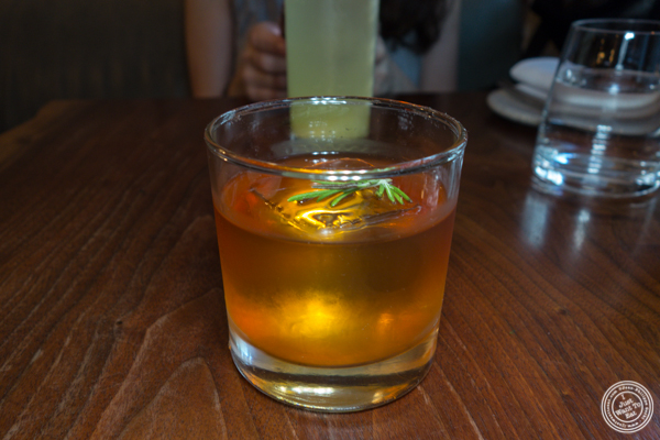 Smoked old fashioned at The Musket Room in NYC