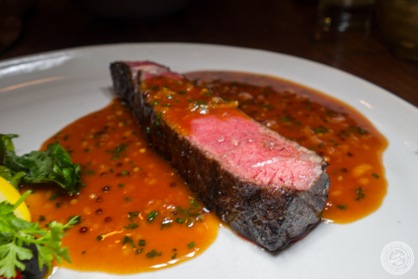 Dry aged beef at The Musket Room in NYC