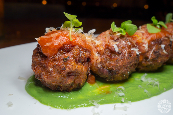 Eggplant meatballs at Vandal in the Lower East Side