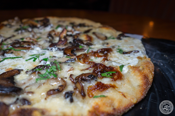 Wild mushrooms pizza at Vandal in the Lower East Side