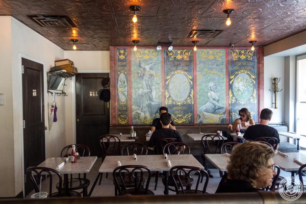 Dining room at La Bergamote in Chelsea