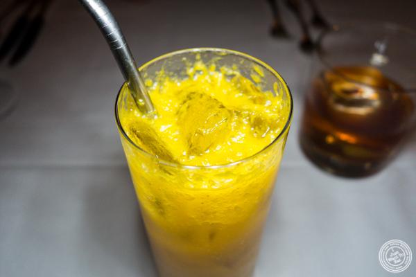Orange and ginger soda at Elizabeth's Gone Raw in Washington DC